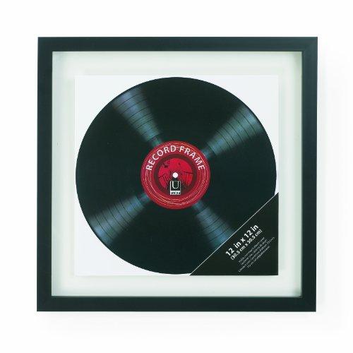 umbra レコード ディスプレイ フレーム 額縁 インテリア 壁掛け ブラック (42x42cm)LP用 RECORD 2310420040