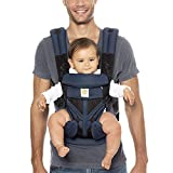 Ergobaby Omni 360 All-Position Baby Carrier for Newborn to Toddler with Lumbar Support and Cool Air Mesh (7-45 Pounds), Blue