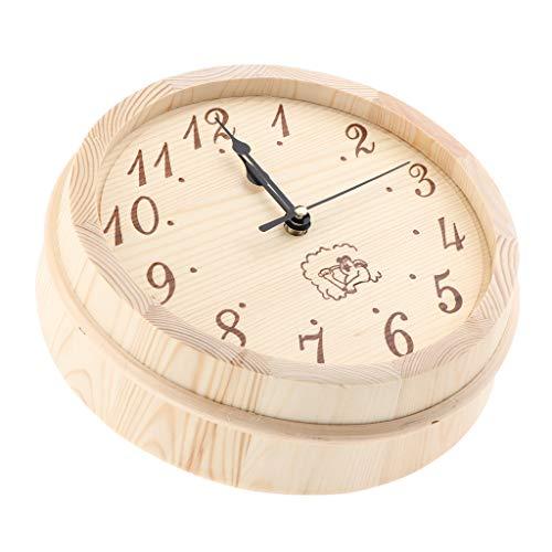 """joyMerit 9""""hölzerne Wanduhr Arabische Ziffer Design Moderne Sauna Uhren"""