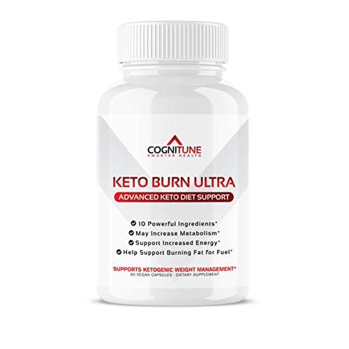COGNITUNE Keto Burn Keto Pills – Keto Supplements for Ketosis with Raspberry Ketones, Apple Cider Vinegar, Garcinia Cambogia – Thermogenic Keto Pills for Men, Women to Boost Metabolism, Burn Fat