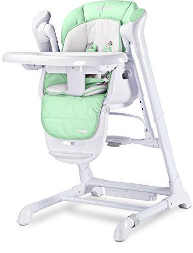 TERO-763 2in1 Babyhochstuhl + Elektrische Babyschaukel Indigo MINZE, Grün