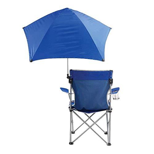 Nosterappou Silla de playa portátil de pesca silla de camping, silla de tripulación silla de respaldo silla de paraguas, silla de sombrilla plegable de ocio al aire libre, ecológica y duradera para ev