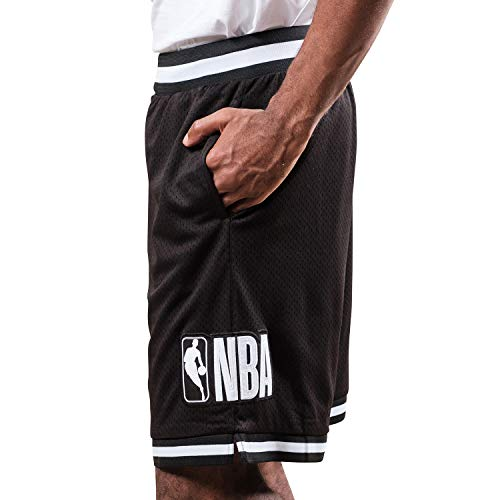 Ultra Game NBA Herren Woven Active Basketball Shorts, Herren, Shorts, Mash Chrome Shorts, schwarz, Medium