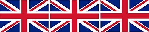 3 x Mini Aufkleber Fahne von Grossbritannien Union Jack Flaggen Sticker Fahrradaufkleber