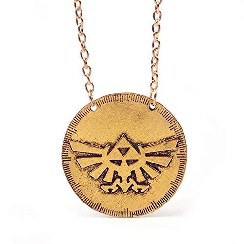CLEARNICE Nuevo Juego De Moda La Leyenda De Zelda Collar Cadena Triángulo Redondo Colgante Collar Zelda Logo Collar Collar
