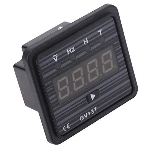 Probador de corriente y probador de voltaje 3 en 1, amperímetro de pantalla LCD, voltímetro, 220 V / 380 V, generador GV13T para pantalla de frecuencia de voltaje del generador(Sistema de 380V)