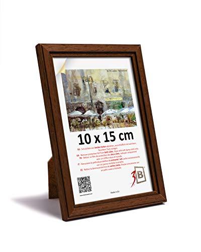 3-B JENA - Cornice portafoto in legno, 10 x 15 cm, colore: Marrone scuro