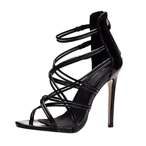 Luckycat Zapatos de Tacón para Mujer Zapatillas Moda Tacón escarpín Sandalias Correa Stiletto Peep-Toe Mujer Zapatos de tacón