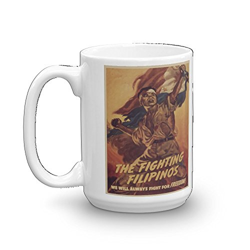 Vintage poster - The Fighting Filipinos 1215 - Glossy White Ceramic Mug (15 oz.)