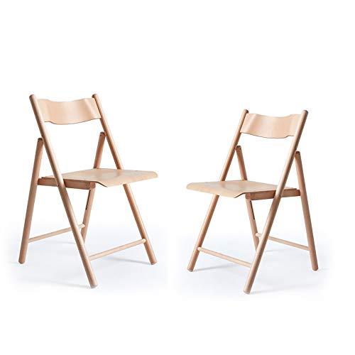Chair QL sedierichiudibili Poltrona da Soggiorno, Sedia Pieghevole Semplice, Poltrona da Balcone per Esterni in Legno Massello per Uso Domestico Sedie Pieghevoli (Color : B)