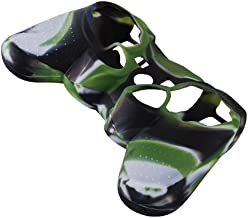 WantMall Army Green Silicone Protective Skin Case Cover for Sony Playstation PS3 PS2 Controller