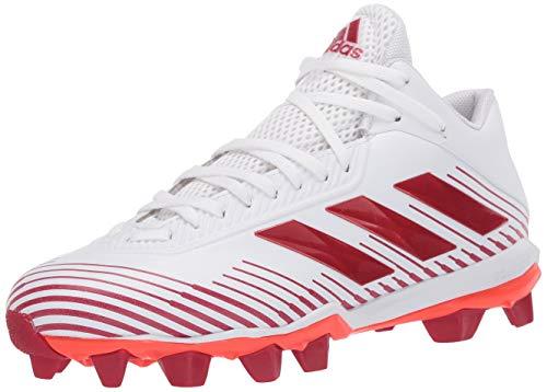 adidas Men's KZA18 Football Shoe, White/Team Power Red/Solar Red, 15