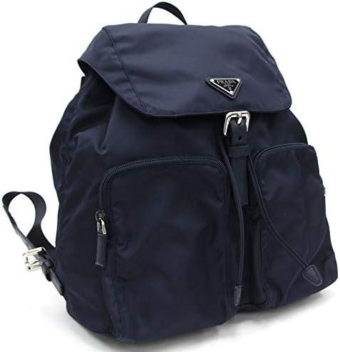 Prada Zainetto Unisex Navy Tessuto Nylon Backpack Rucksack Leather Trim 1BZ005 product image