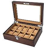 Ver caja de almacenamiento de pantalla Reloj De Pulsera Caja De Casetes De Acristalamiento De Madera...
