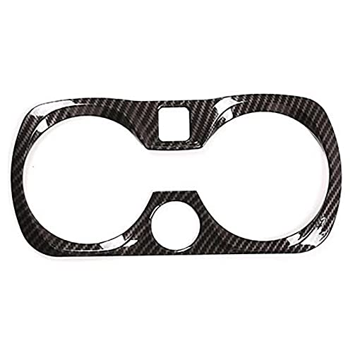 CJWY 1 Unidad Plástico Fibra Carbono para Consola, Apoyabrazos, Soporte para Vasos Agua, Marco, Cubierta Decorativa, Calcomanías Ajuste para BMW 3 Series 2020