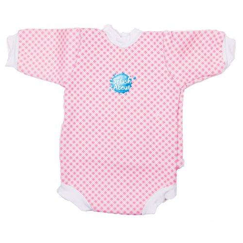 Splash About, Mini WetSuit, Halbarm Neopren Baby Schwimmanzug, Pink Gingham, Größe: XL (6-12 Monate)