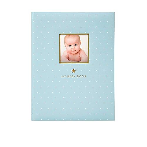 Little Blossoms by Pearhead 5 Year- Sweet Welcome Keepsake Babybook, Keepsake Journal for Baby Boy, Blue