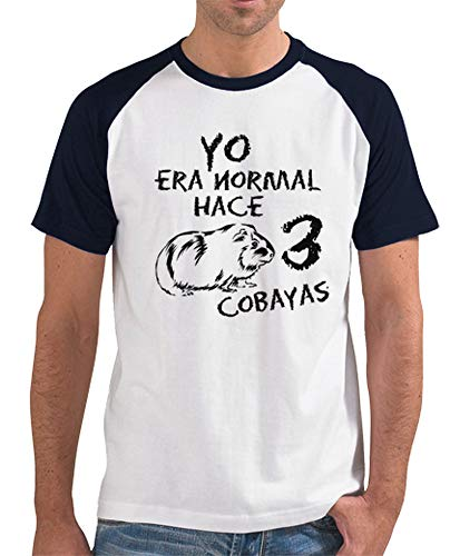 latostadora - Camiseta Manga Corta Yo Era para Hombre Azul Marino L