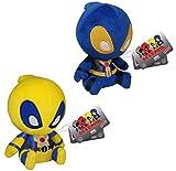 Deadpool Funko 5' Mopeez Plush Bundle: Blue & Yellow