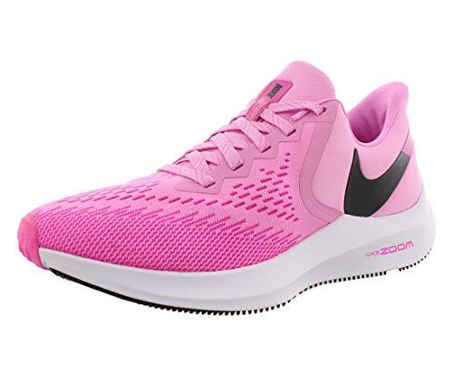 Nike Wmns Zoom Winflo 6, Zapatillas de Atletismo Mujer, Multicolor (Psychic Pink/Black/Laser Fuchsia/White 600), 36 EU
