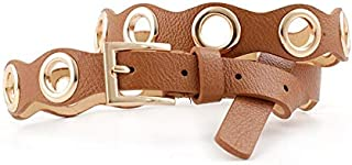 SGJFZD New Women's Belt Air Eye Gourd Belt Fashionable Student Youth Decorative Belt (Color : Camel, Size : 110cm)