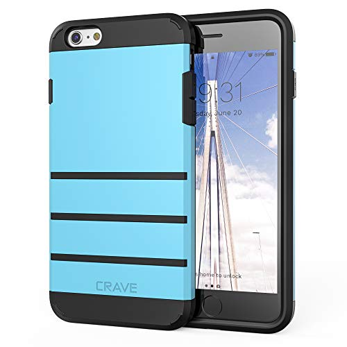 iPhone 6S Plus Case, iPhone 6 Plus Case, Crave Strong Guard Protection Series Case for iPhone 6 / 6s Plus (5.5 Inch) - Sky Blue