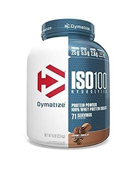 Dymatize Nutrition ISO 100 Whey Protein Powder Gourmet Chocolate 5 Pound