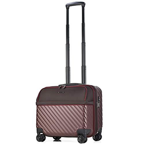 【amant】スーツケース 機内持ち込み フロントオープン ビジネスキャリー 8輪 機内持込 【AVANT】 小型 ダブルキャスター キャリーケース キャリーバッグ 前ポケット 軽量 PCホルダー ビジネス 静音 TSAロック エキスパンド (ラセット,