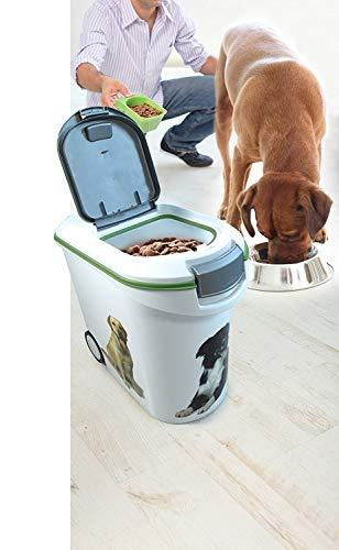 Curver 03905-P70-00 Pet-Futter-Container 12 kg, 49.3 x 27.8 x 42.5 cm, 35 L - 9