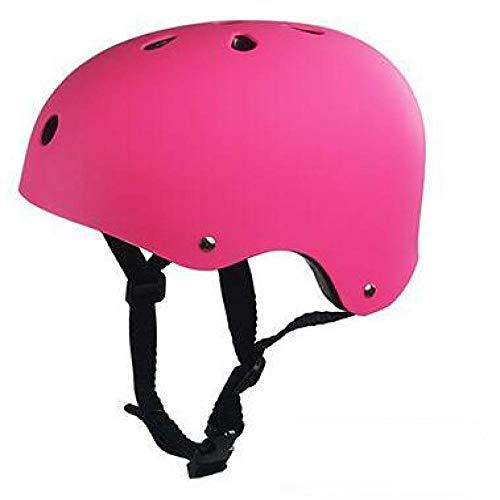 SFBBBO Casco Bicicleta Casco de Seguridad para Adultos y niños, Bicicleta, Bicicleta, Scooter, BMX, monopatín, patineta, Bombardero, Casco de Ciclismo M54-57cm Rosa