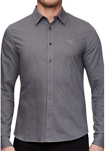 Calvin Klein Brushed Twill Slim Non Stretch Camisa para Hombre