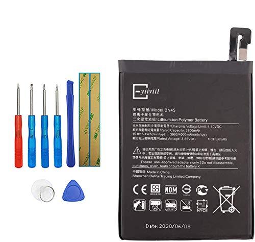 Vvsialeek BN45 - Batería compatible con Xiaomi Mi note2 Redmi Note 5 con kit de herramientas