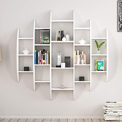 Homemania Libreria Alvino, Legno, Bianco, 146x29x147 cm