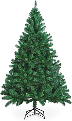 Christmas tree 300cm 10ft artificial Christmas tree for indoor and outdoor light and fluffy Christmas tree for Christmas decoration with stand easy assembly Christmas tree ornaments-240cm/8ft_Gre