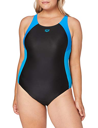 ARENA Ren Badeanzug Black-Pix Blue-Turquoise 34