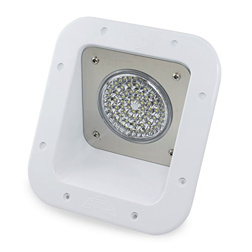Leisure LED RV Exterior Flood Porch Utility Light - White 12v 1100 Lumen Lighting Fixture Replacement Lighting for Weekend Warrior RVs, Trailers, Campers, 5th Wheels (White)