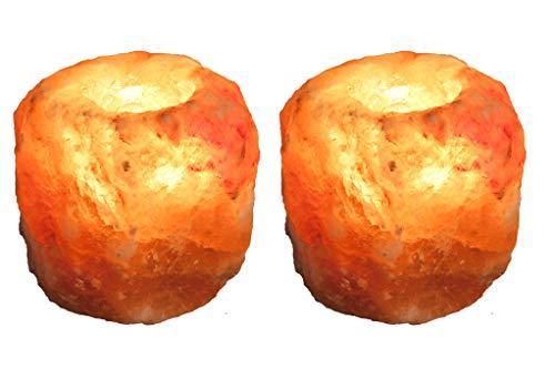 NaturGut kristalzout theelicht handgeslagen unicaat ca.700-1000 g zout theelichthouder uit een voorgebergte van de Himalaya/Punjab/Pakistan