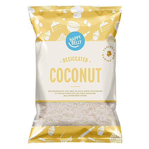 Marque Amazon - Happy Belly Noix de coco râpée déshydratée 200gr x 5
