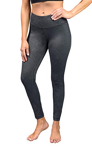90 Degree by Reflex Womens Power Flex Yoga Pants - Heather Charcoal - Medium