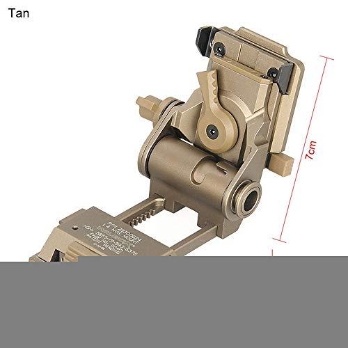HR Nachtsichtbrillenhalterung,Helmhalterung für taktisches Nachtsichtgerät,Night Vision Goggles Mount (NVG) PVS15/18 for L4G24 Metal Tactical Helmet Mount Tan