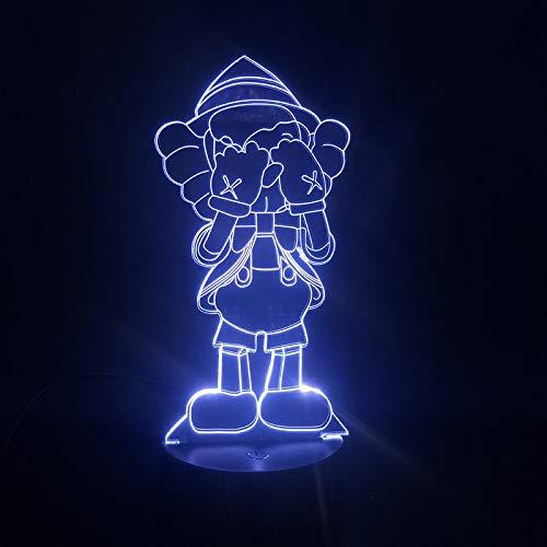 Lámpara 3D Una pequeña persona que se cubre los ojos Anime Mejor presente Niños Base brillante Atmósfera Lámpara de luz de noche LED Usb