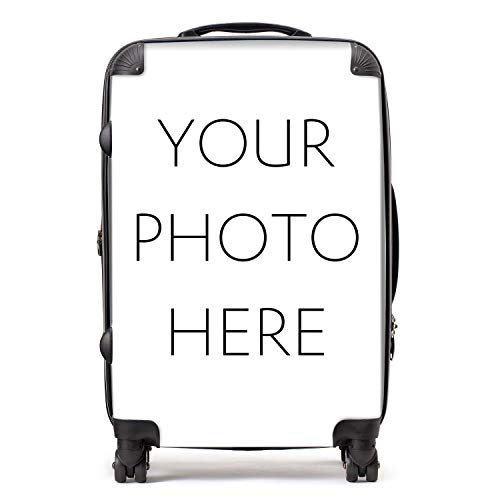 Personalised Suitcase | Personalise Your Luggage with Customised Photo or Design | TSA Lock 4 Spinner Wheels Luggage 68cm 80Ltr