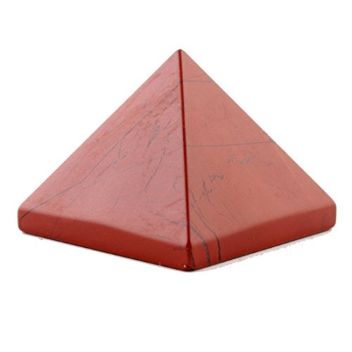 Red Jasper 1.5Inch Natural Pyramid Carved Chakra Healing Crystal Reiki Stone Top Quality Gemstone Radiation Deflection Home Decor Gift Decoration Crafts (Red Jasper)