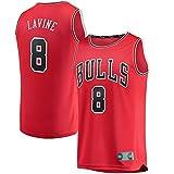 Camiseta sin mangas estilo retro Icon Zach Edition LaVine Baloncesto Bulls Jersey n.º 8 repetible Chicago Transpirable Training Fanatics Shirt Hombres