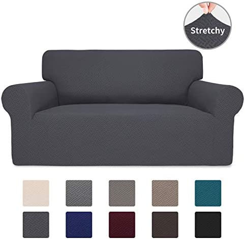 Best Easy-Going Stretch Jacquard Loveseat Couch Cover, 1-Piece Soft Sofa Cover, Sofa Slipcover with Anti-