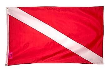 PringCor Diver Down Flag 3x5FT Polyester Banner Navy Nixon Water Swim Scuba USA