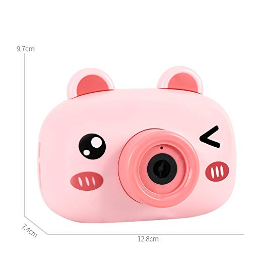 Webla Burbuja eléctrica Cámara Toy Light Music Camera Bubble Machine(Rojo)