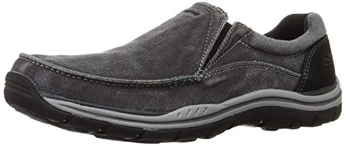 Skechers USA Men's Expected Avillo Relaxed-Fit Slip-On Loafer,Black,9 EW US