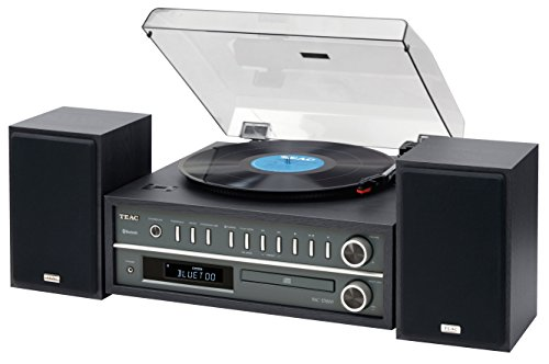 Teac MCD800B 20-watt Turntable System with AM/FM/CD/Wireless Technology in Black