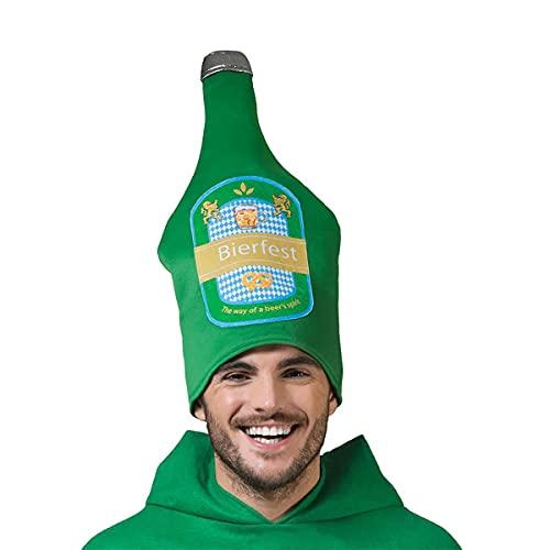 Fasent-Party® Sombrero de botella de cerveza verde para Oktoberfest (sombrero de cerveza)